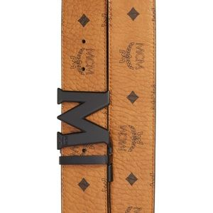 Reversible Signature Leather Belt MCM